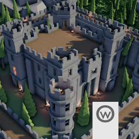 Modular assets suited for designing Castle buildings and interiors