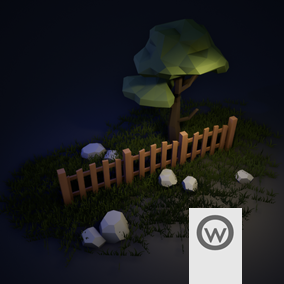 Versatile set of Fences for use with your favorite assets.