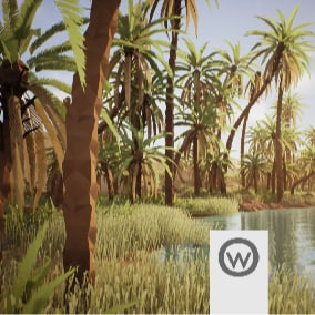 Beautiful asset package for design oasis environments