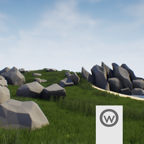 Low Poly Stylized Rocks assets pack for complement your enviroments