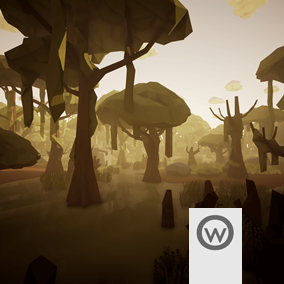 Assets package that include required stuff for create stylished low poly swamp enviroments