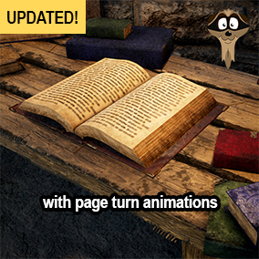 (Update 1) Old animated and static books with customizable covers, pages and material parameters
