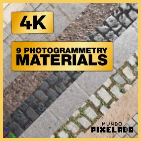 9 photogrammetry materials 4k
