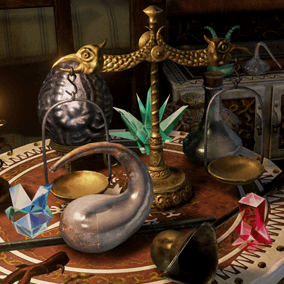 Collection of Medieval Fantasy Household Props.