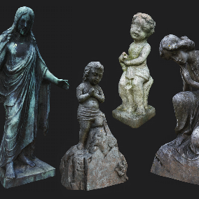 Collection of 5 Photogrammetry Statues Perfect for Exterior Decoration