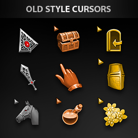 Set of 25 unique old style hand-drawn cursors.