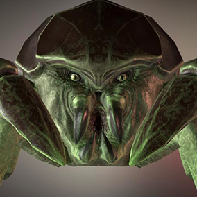 Nice 3D model creature-beast for your project with a large set of character animation.