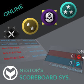 Full online game scores setup + HUD with instant medals system, team scoring and player kills menu.