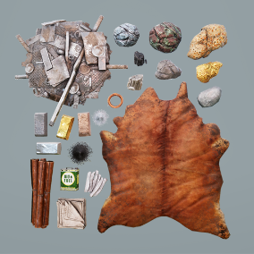 AAA quality Open World resources including metals, minerals and more in 2k textures.