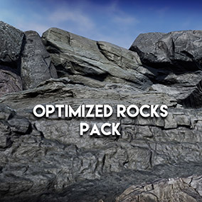 A set of 22 hand optimized rocks and rock surfaces from photoscans, low performance impact, LODs + collision, camera distance based normal detail map, looks great in any environment!