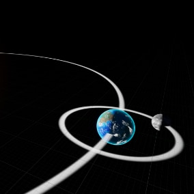 Spline based Orbital System for Actors, incl. Mass based Speed