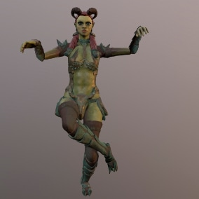 Low-poly model of the character Orc Girls