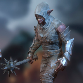 Orc Kanit has a good reputation among orcs for his hidden attacks.