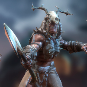 The leader of the army of orcs, has the status of General