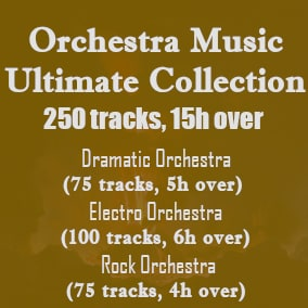 This collection contains looped and non-loop tracks useful for various scenes in your work, and this is the solution to your frustrations and difficulties in your search for high quality Orchestra tracks that will make your work even better.