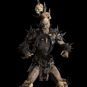 Low-poly model of the character Orc necromancer