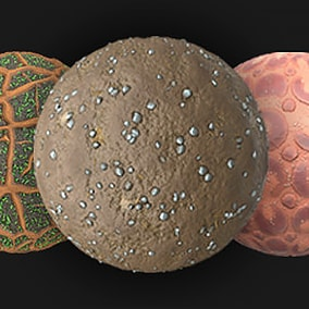 18 PBR Ground Materials: grass, sand, ground forest, oasis and etc.