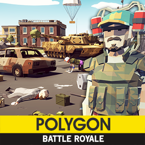 Synty Studios Presents - A low poly asset pack of characters, props, weapons, vehicles, and environment assets to create a Military themed polygonal style game.