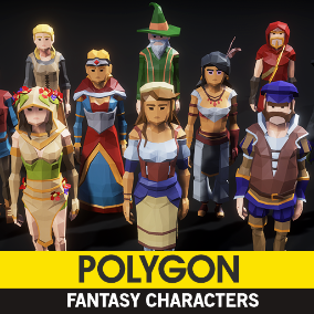 Synty Studios Presents - POLYGON Fantasy Characters. A fantasy themed pack.