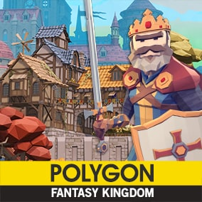 Synty Studios Presents - An Epic Low Poly asset pack of Buildings, Characters, Props, Weapons and Environment assets to create a Fantasy themed polygonal style game. No need to scour the store looking for packs that match, Fantasy Kingdom is HUGE!