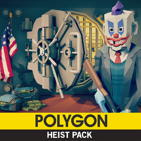 Synty Studios Presents - POLYGON - Heist Pack. An action packed asset set.