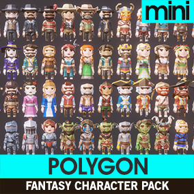 Presenting Polygon Mini Characters! Cute miniature versions of our popular Polygon Fantasy Series!