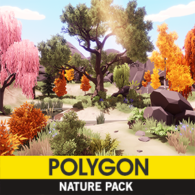 A low poly asset pack of Trees, Plants, Terrain, Rocks, Props, and FX assets to add to your existing polygonal style game.