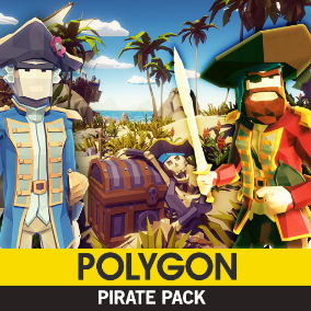 Synty Studios Presents - POLYGON - Pirates Pack. A Pirate themed asset pack.