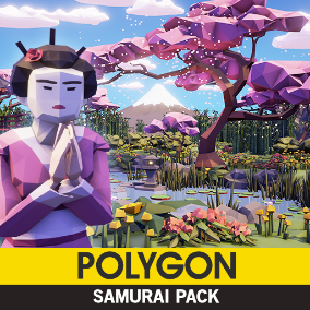 Synty Studios Presents - POLYGON - Samurai Pack. A Fantasy themed asset pack.
