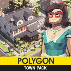 A low poly asset pack of Buildings, Vehicles, Characters, and Props assets to add to your existing polygonal style game.