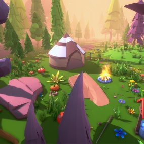 Low Poly Fantasy  Nature Pack
