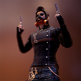 Characters are designed for Third person shooter games with separate parts for you to choose the character you like and some characters are grafted.