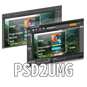PSD2UMG is a plug-in that imports a PSD file into UnrealEngine4 and converts the PSD file into Widget Blueprints.