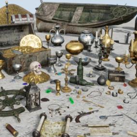 86 props to create a realistic treasure island