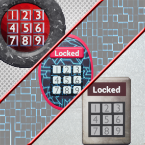 A new PadLock System with Codes that can be pre-set by the developer with 3 different designs (Futuristic, Vintage and Cave), Sound Effects, and more!