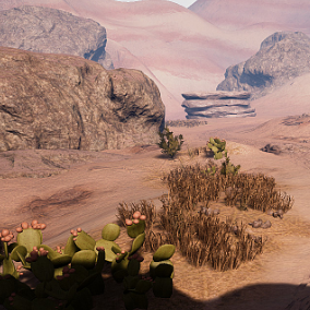 This is a small set of optimized and scalable assets to be used for a desert environment.