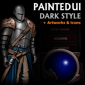 This asset is made for dark, strategy and action RPG games.