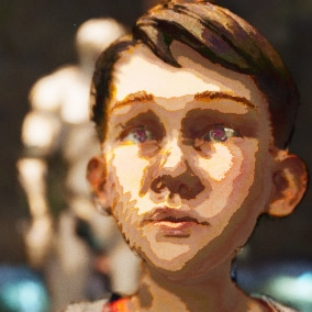 Give a painterly feel to any scene with an artistic style, cel toon shader, outlines, cel color bands, and a brushstroke effect. For Windows PC.