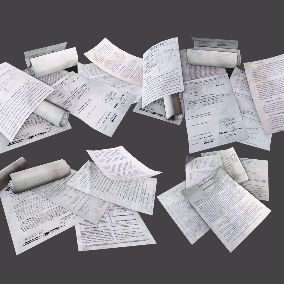 High Quality Collection of Paper / Documents and Cardboard Boxes Debris