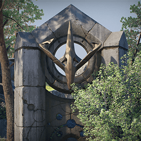 Licensed for use only with UE4 based products. Includes props and FX for set pieces from both the Monolith and Agora maps from Paragon.