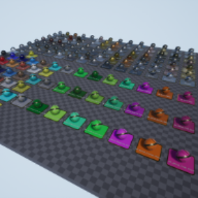 Metals: painted, worn, dirty, corroded.  170 parametrized metals and instructions for making more!