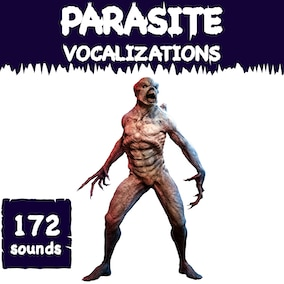 A parasite vocalization sound library with 172 high-quality monster sound effects, ready for use in the video game and trailer.