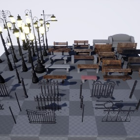 A collection of props for you to create your own park.