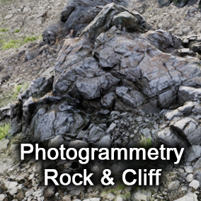 Unique 14 different photogrammetry rock & cliff pack (include terrain)