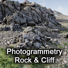 Unique 14 different photogrammetry rock & cliff pack (include terrain)