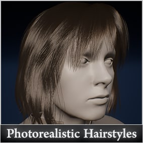 11 stunning vertex-animated hairstyles + 4 beard styles with endless customization possibilities.