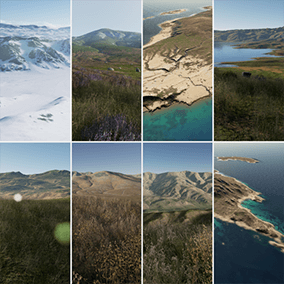 "This set ""Photorealistic Landscape Pack 4"" includes highly detailed landscapes. These landscapes, will be eligible for next-gen games. 