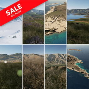 """This set """"Photorealistic Landscape Pack 4"""" includes highly detailed landscapes. These landscapes, will be eligible for next-gen games.  This pack contains 9 different landscapes."""