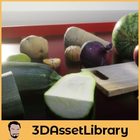 Photo-scanned fruit and vegetables for unreal engine complete with 17 unique meshes covering simple various fruit and veg for Unreal Engine 4.20+