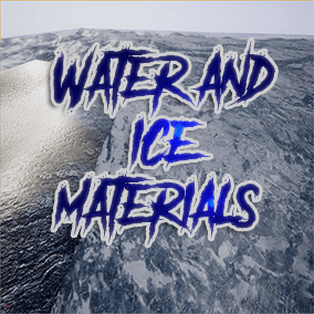 New Physical Water and Ice Material shaders. All the preview materials are made with the same shader. It includes all the needed info to modify the shaders of both water and ice materials.